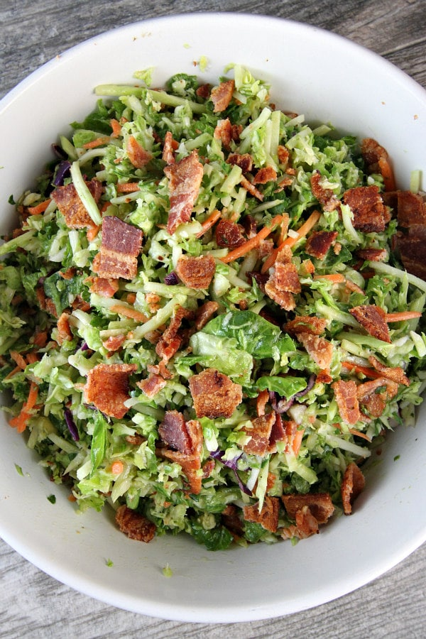 Bacon and Brussels Sprouts Salad Recipe - from RecipeGirl.com
