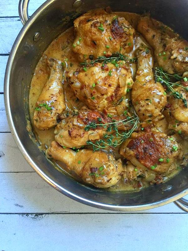 Chicken with Mustard - from RecipeGirl.com