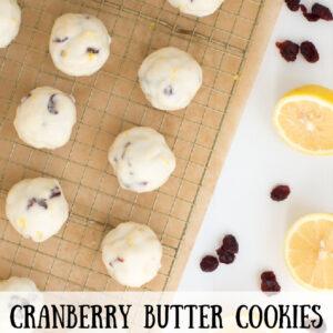 cranberry butter cookies pinterest image