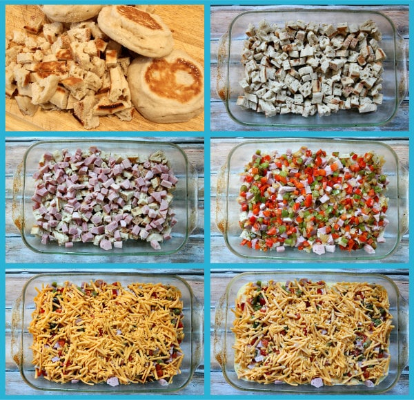 Holiday Breakfast Casserole Prep
