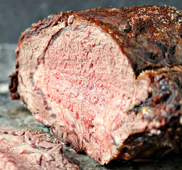 Rib Roast with Red Wine Au Jus