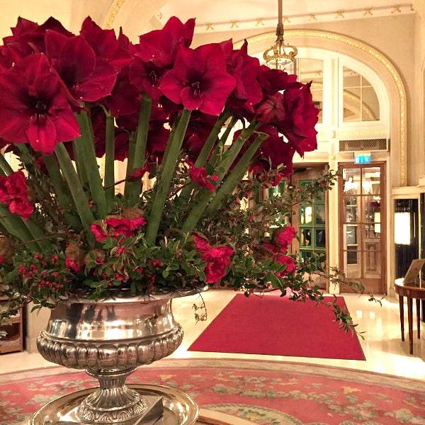 Ritz London Flowers in Lobby