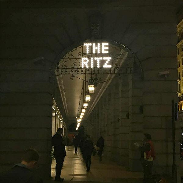 Ritz London at Night
