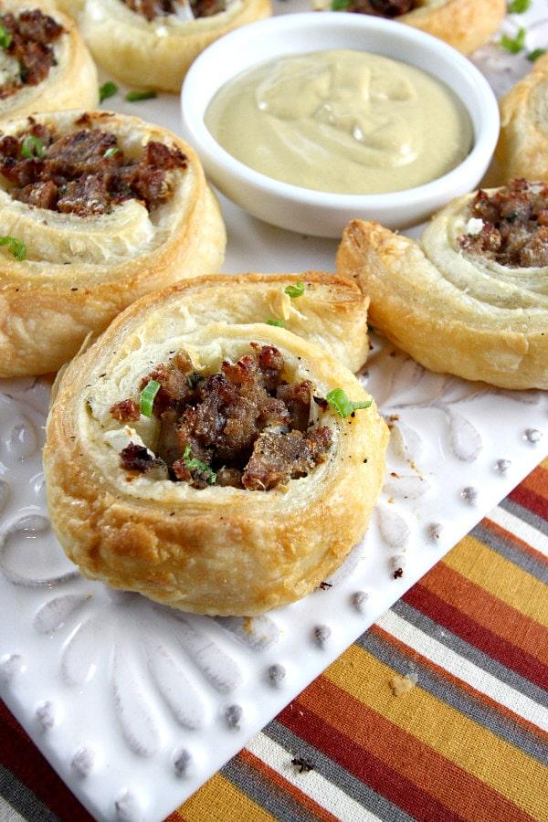 Sausage Pinwheels Recipe - RecipeGirl.com