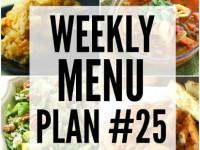 Weekly Menu Plan 25