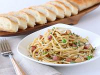 ham-bean-skillet-spaghetti