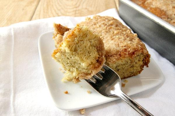 Banana Coffee Cake Recipe from RecipeGirl.com