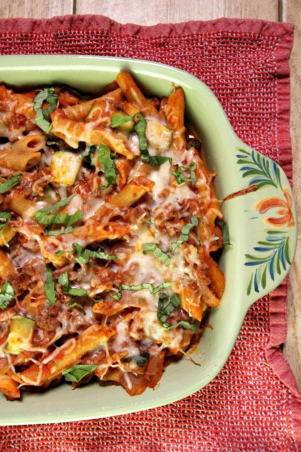 Cheesy Beef and Pasta Casserole Recipe - RecipeGirl