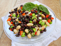 Lemon Basil Three Bean Salad