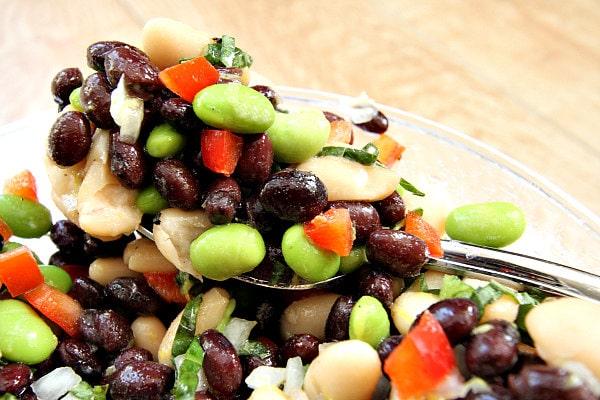 Lemon Basil Three Bean Salad Recipe - RecipeGirl.com
