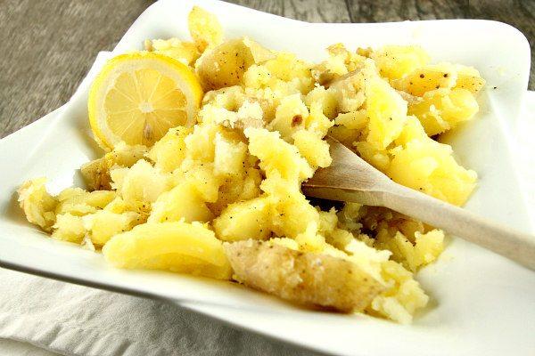 Lemon Smashed Potatoes