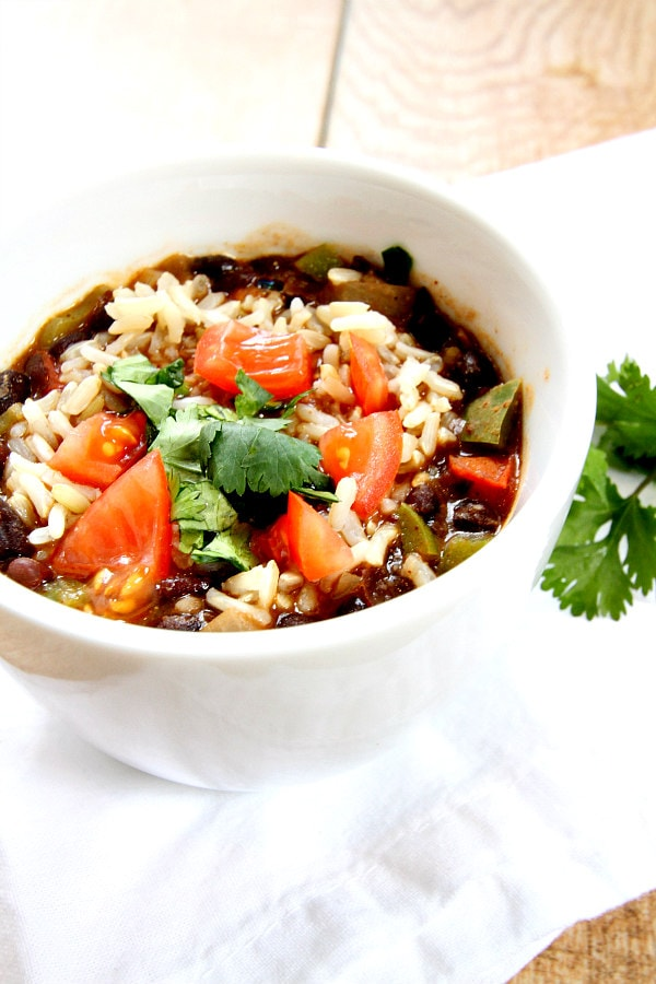 Southwestern Black Bean Soup Recipe - RecipeGirl.com