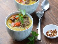 Thai-Inspired Beef Coconut Curry Soup 1