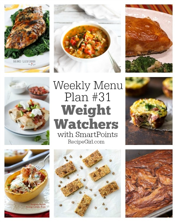 Weekly Menu Plan #31 Weight Watchers