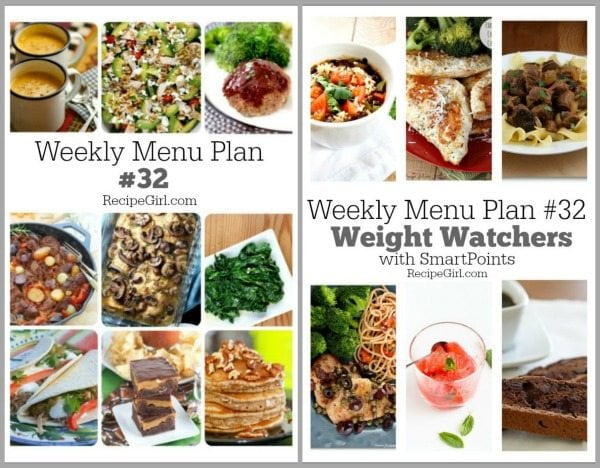Weekly Menu Plan #32