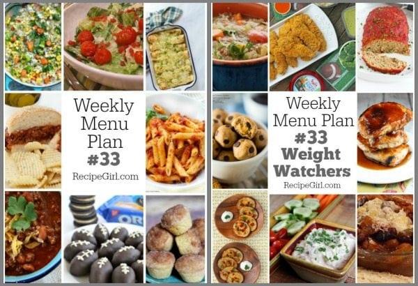 Weekly Menu Plans #33