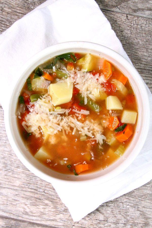 Easy Vegetable Soup Recipe from RecipeGirl.com