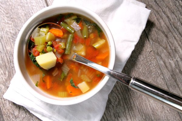 Bowl of Easy Vegetable Soup