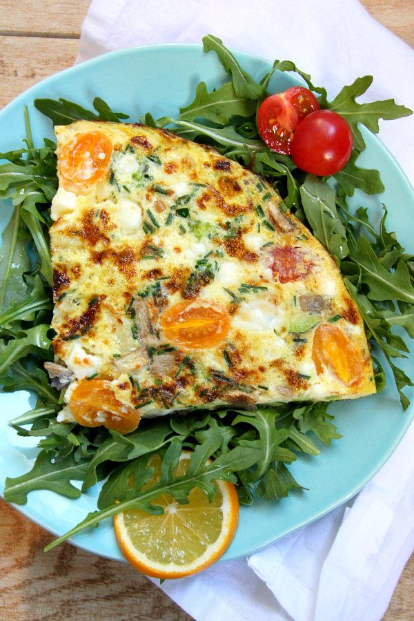 Very Vegetable Frittata Recipe - from RecipeGirl.com