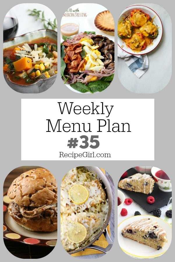 Weekly Menu Plan 35