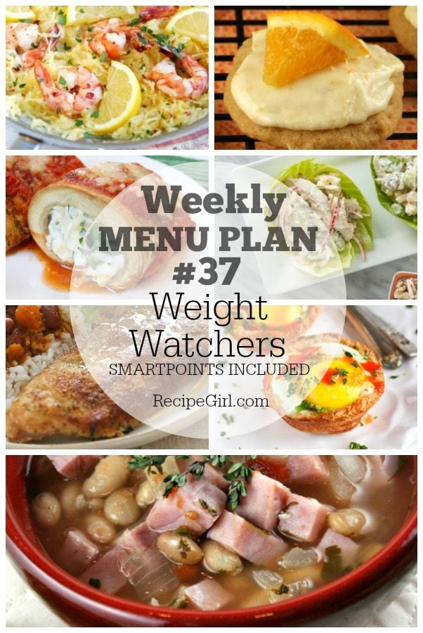 Weekly Menu Plan #37 Weight Watchers