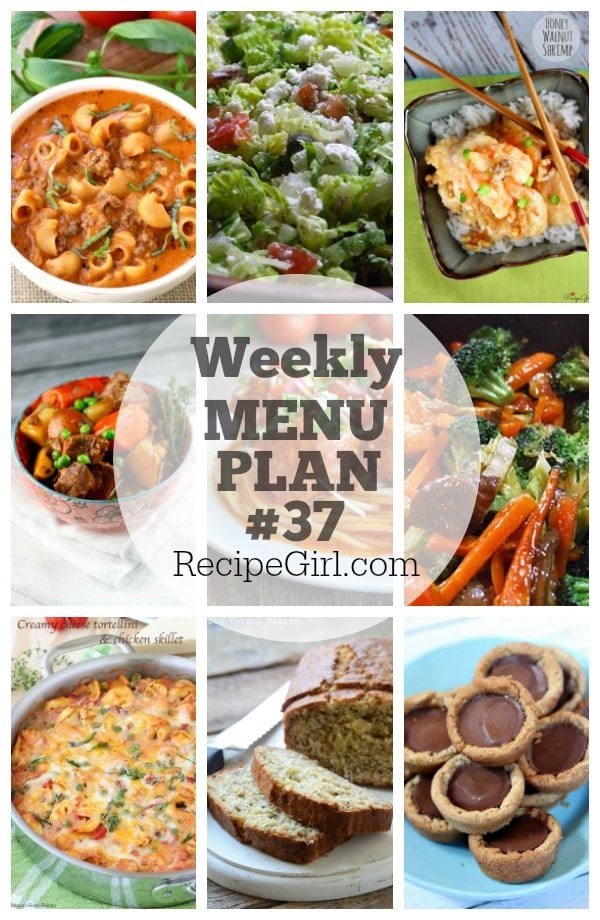 Weekly Menu Plan #37