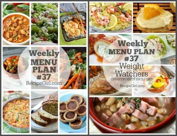 Weekly Menu Plan #37