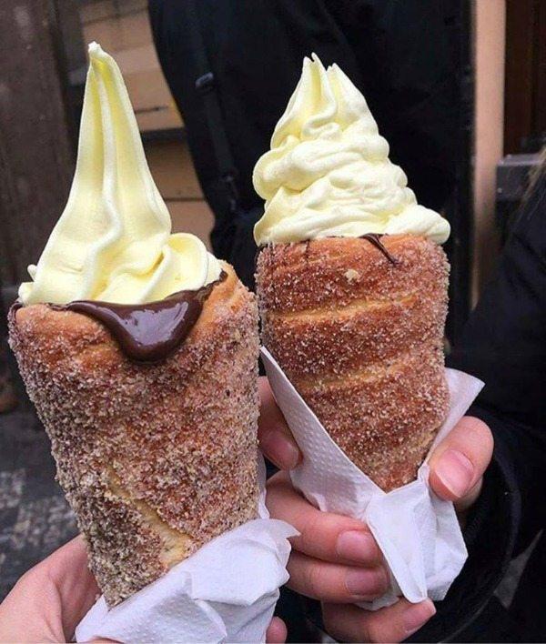 Churro Ice Cream Cones