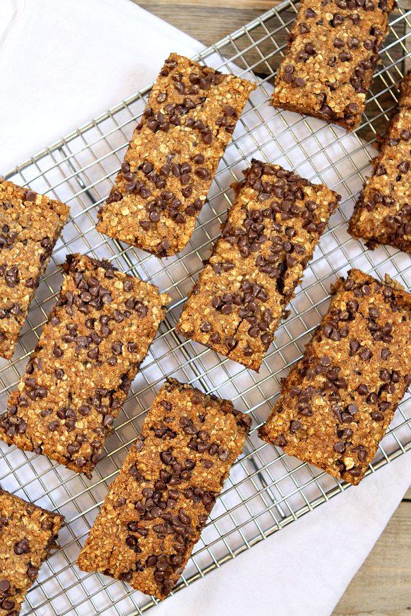 Chocolate Chip Granola Bars Recipe - RecipeGirl.com