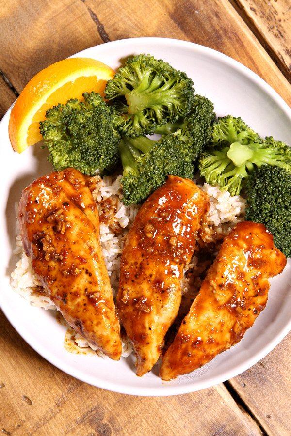 Hoisin Orange Chicken Tenders Recipe - RecipeGirl.com