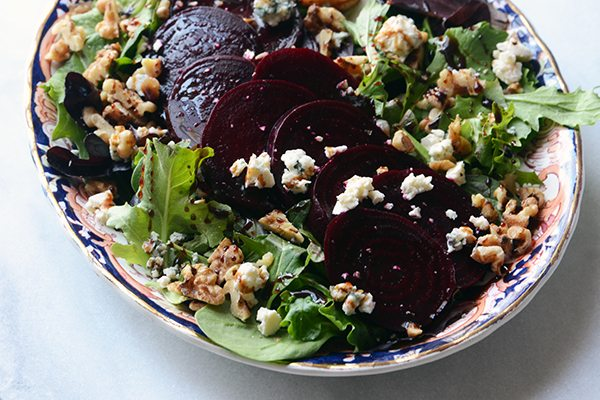 Roasted Beet Salad with Blue Cheese and Easy Maple-Balsamic Reduction 1