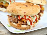 Sweet and Spicy Pulled Pork Sandwiches
