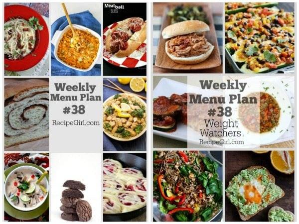 Weekly Menu PLans 38