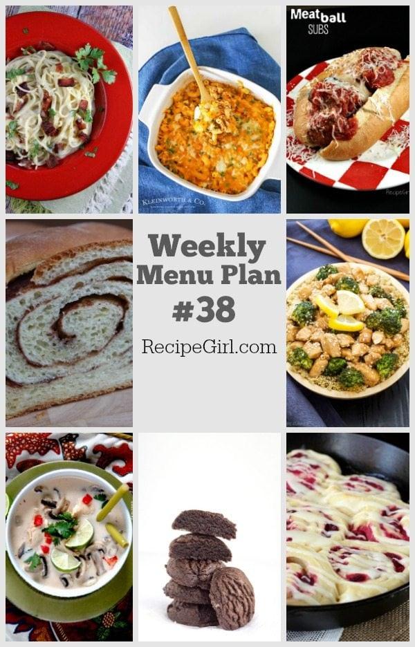 Weekly Menu Plan 38