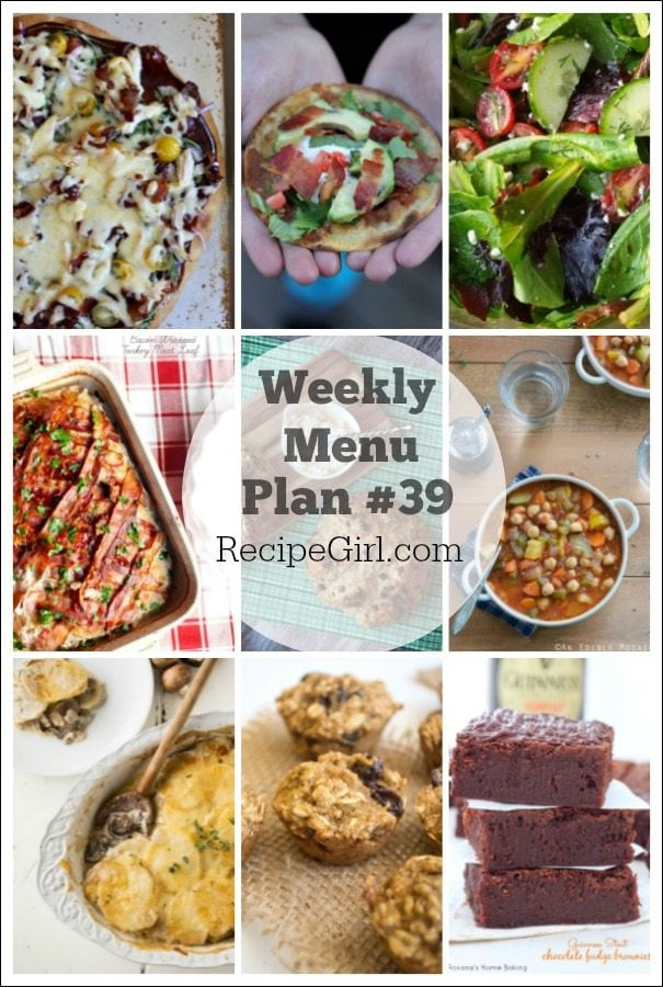 Weekly Menu Plan 39