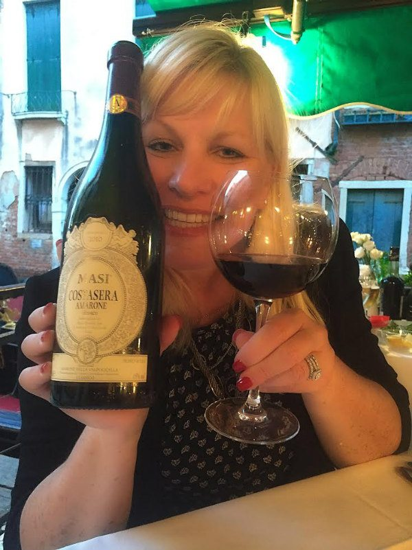 RecipeGirl with Amarone in Venice, Italy
