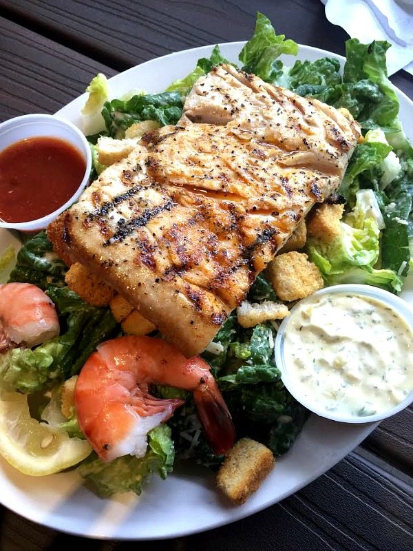 Caesar Salad with Grilled Mahi Mahi at Paia Fish Market South