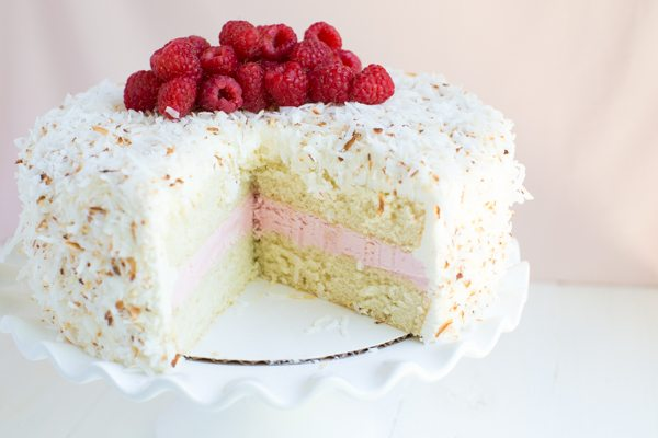 Coconut Cake with Raspberry Buttercream Filling - Recipe Girl