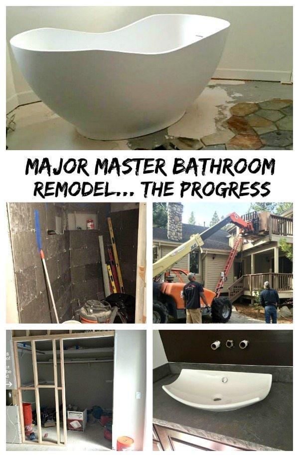 Major Master Bathroom Remodel- the progress