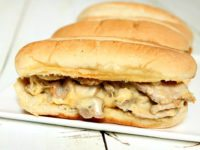 Pork and Melted Cheese Hoagies Recipe