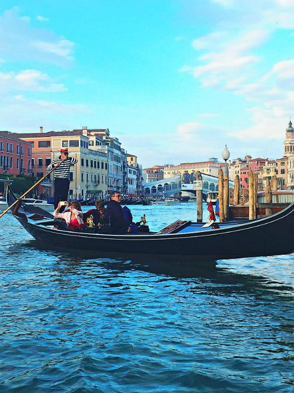 Boat scene in Venice, Italy
