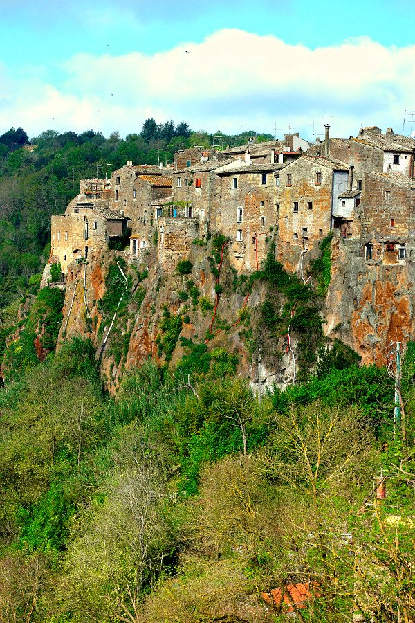 The beautiful hillside town of Calcata, Italy.