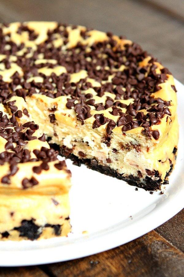 Chocolate Chip Cheesecake Recipe - RecipeGirl