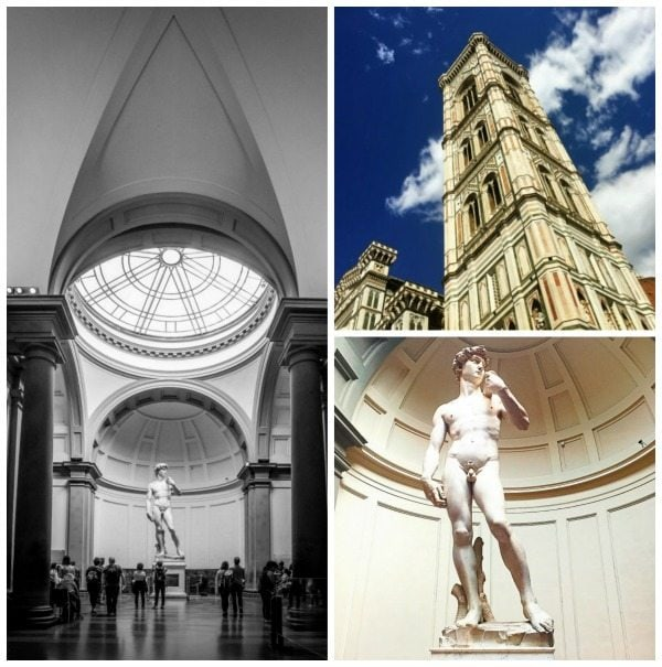 Duomo and Michaelangelo's David in Florence, Italy