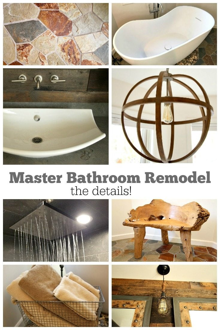 Master Bathroom Remodel the details of all products chosen - RecipeGirl.com