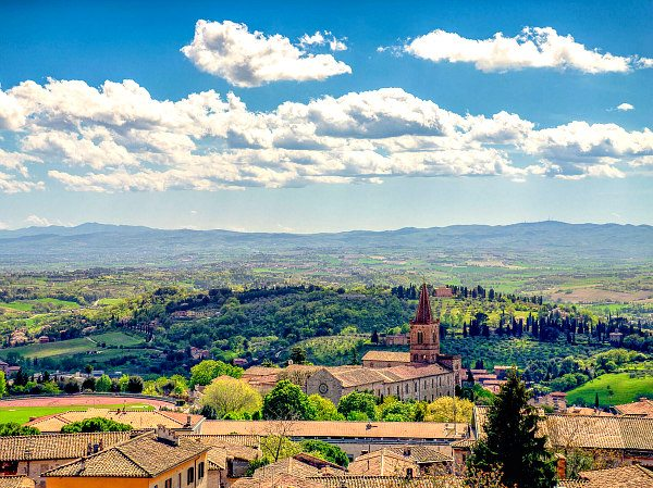 Perugia, Italy- looking into the valley at Assisi