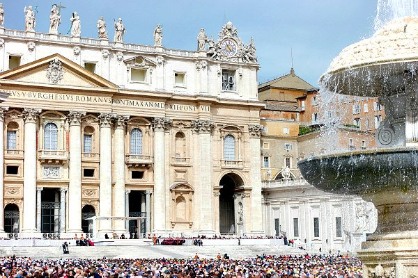 St. Peter's Square in Vatican City- Rome, Italy