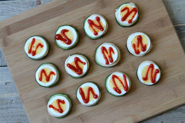 Spicy Cucumber Stacks