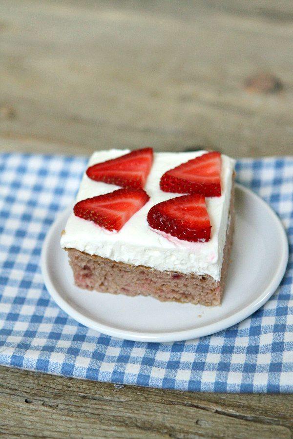 Gluten Free Strawberry Cake Recipe - RecipeGirl.com