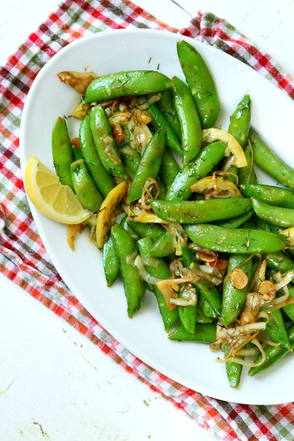 Lemony Stir Fried Sugar Snap Peas Recipe - RecipeGirl.com